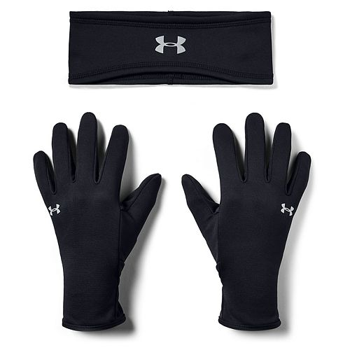 Women's Under Armour Run Band and Glove Set