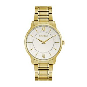 Caravelle by Bulova Men's Gold-Tone Watch - 44A114
