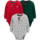 Baby Boy Carter's 3-Pack Holiday Original Bodysuits