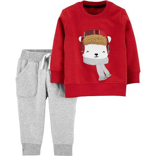 Baby Boy Carter's 2-Piece Polar Bear Sweater & Fleece Pants Set