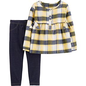 Baby Girl Carter's 2-Piece Plaid Flannel Top & Jegging Set