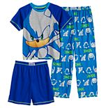 Boys 4-12 Sonic the Hedgehog Top, Shorts & Pants Pajama Set
