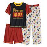 Boys 4-12 Harry Potter Top, Shorts & Pants Pajama Set