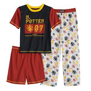 Boys 8-20 Harry Potter Top, Shorts & Pants Pajama Set
