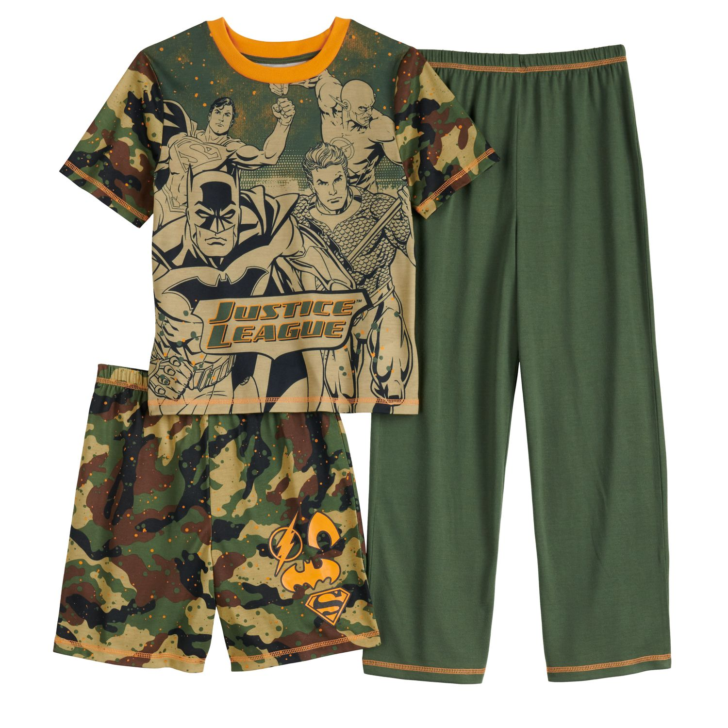 Short-Sleeve Top and Shorts Jellifish Kids Boys 2-Piece Cotton Pajamas Set