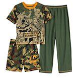 Boys 4-12 Justice League Top, Shorts & Pants Pajamas