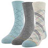 Boys GOLDTOE® 3-Pack Bias Plaid Crew Socks