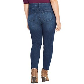Plus Size East Adeline by Dia&Co Distressed Skinny Jeans