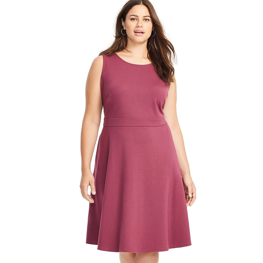 Plus Size East Adeline by Dia&Co Sleeveless Fit and Flare Dress