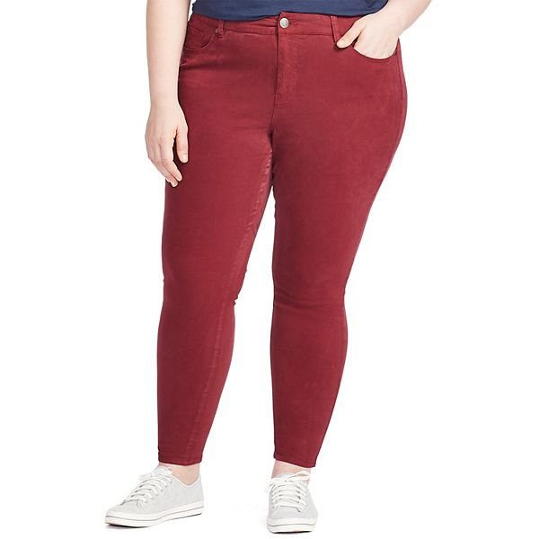 Plus Size East Adeline by Dia & Co Brushed Sateen ... 5-Pocket Pants