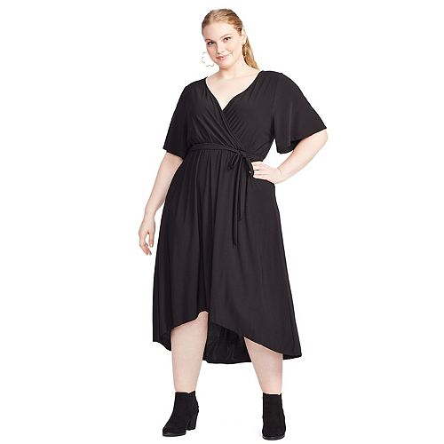 Plus Size East Adeline by Dia&Co High-Low Wrap Dress