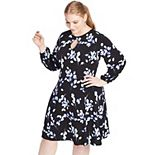 Plus Size East Adeline by Dia&Co Keyhole Dress