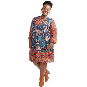 Plus Size East Adeline by Dia&Co Woven Shift Dress