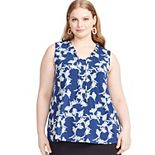 Plus Size East Adeline by Dia&Co Printed Tank Top