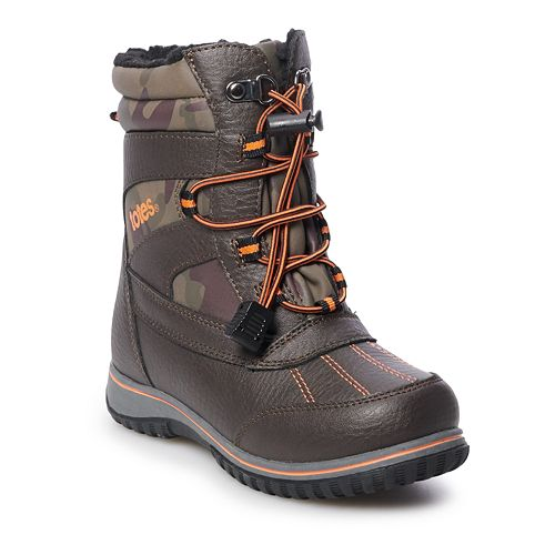 totes Jimmy Boys' Water Resistant Winter Boots