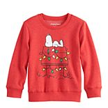 Toddler Boy Jumping Beans® Fleece Snoopy Holiday Sweater