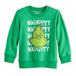 Toddler Boy Jumping Beans® Fleece Naughty Grinch Sweatshirt