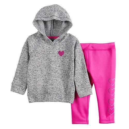 Baby Girl Jumping Beans® Fleece Pullover Hoodie Set