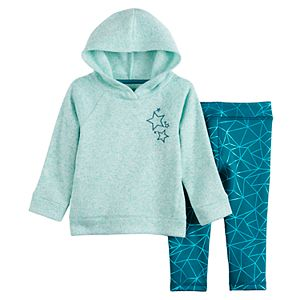 Baby Girl Jumping Beans® Fleece Pullover Hoodie Set