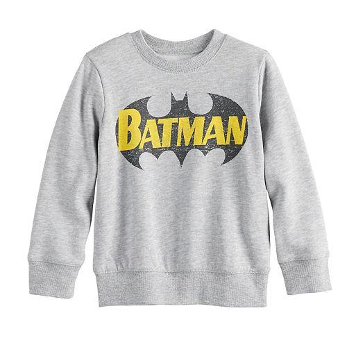 Toddler Boy Jumping Beans® Fleece Batman Logo Sweater