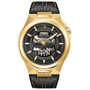 Bulova Men's Automatic Leather Watch - 97A148