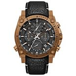 Bulova Men's Precisionist Chronograph Leather Watch - 97B188