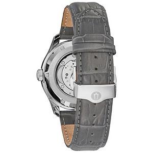 Bulova Men's Automatic Leather Watch - 96C143