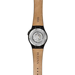 Bulova Men's Automatic Leather Watch - 98A238