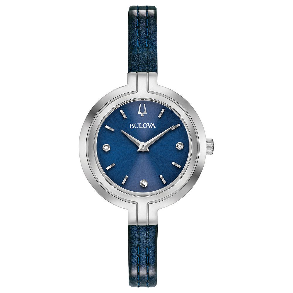 Bulova Women's Rhapsody Diamond Accent Leather Watch - 96P212