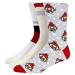 Men's SockTalk 3-Pack Holiday Crew Socks