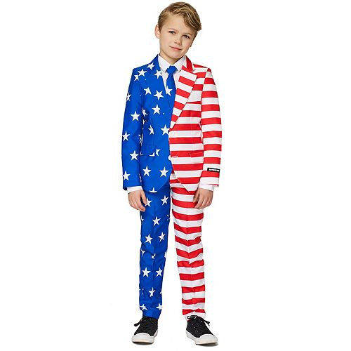 Boys 4-16 Suitmeister USA Flag Americana Suit
