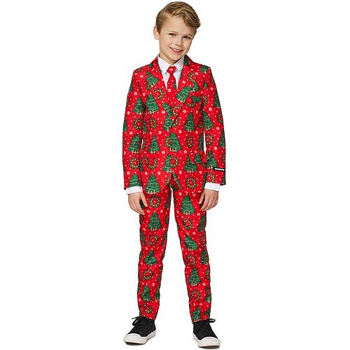 Boys 4-16 Suitmeister Christmas Trees Suit
