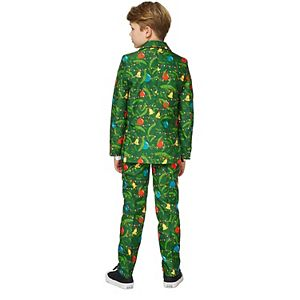 Boys 4-16 Suitmeister Christmas Green Trees Suit