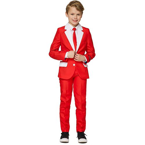 Boys 4-16 Suitmeister Santa Outfit Christmas Suit