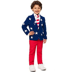 Boys 2-8 OppoSuits Stars & Stripes Americana Suit