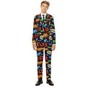 Boys 10-16 OppoSuits Badaboom Comics Suit
