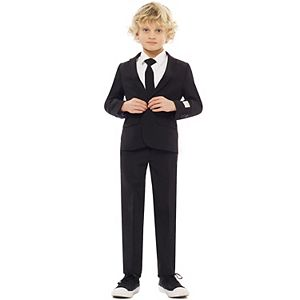 Boys 2-8 OppoSuits Black Knight Solid Suit