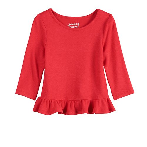 Baby Girl Jumping Beans® Snit Ruffle Top