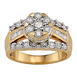 Sterling Silver 1/2 Carat T.W. Diamond Ring