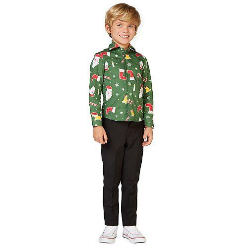 Boys 2-8 OppoSuits Santaboss Christmas Shirt