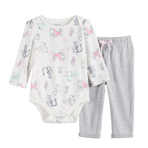 Disney's Winnie the Pooh Baby Girl Bodysuit and Pant Set by Jumping Beans®
