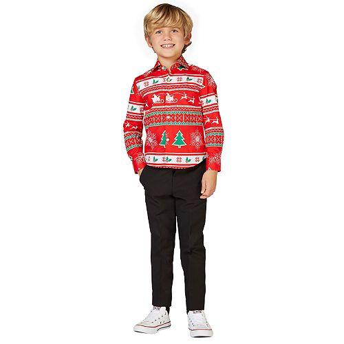 Boys 2-8 OppoSuits Winter Wonderland Christmas Shirt