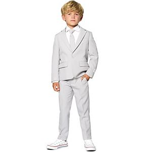 Boys 2-8 OppoSuits Groovy Grey Solid Suit