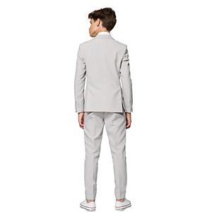 Boys 10-16 OppoSuits Groovy Grey Solid Suit