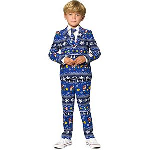 Boys 2-8 OppoSuits Nintendo Merry Mario Christmas Suit