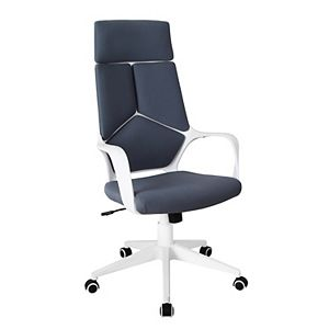 Techni Mobili Ergonomic Upholstered Racing Style Home Office Chair