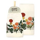 Celebrate Spring Together Spring Hello Spring Tie-Top Kitchen Towel 2-pk.