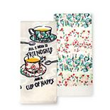 Celebrate Spring Together Spring Cup of Happy Kitchen Towel 2-pk.