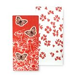 Celebrate Spring Together Spring Butterflies Kitchen Towel 2-pk.