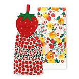 Celebrate Spring Together Spring Strawberry Tie-Top Kitchen Towel 2-pk.